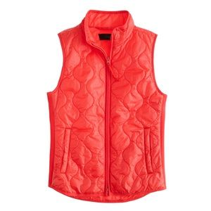 J. Crew primaloft quilted puff vest layering zip